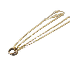 Cartier 18K Tri Color Gold Baby Trinity Pendant Necklace