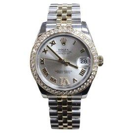 Rolex Datejust 178383 18K Yellow Gold & Stainless Steel Diamond Bezel & VI 31mm Unisex Watch