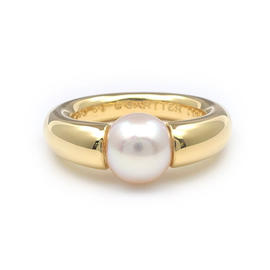 Cartier La Perla 18K Yellow Gold Ring Size 5.75