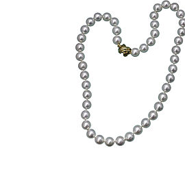 Tiffany & Co. 18K Yellow Gold Pearl Necklace