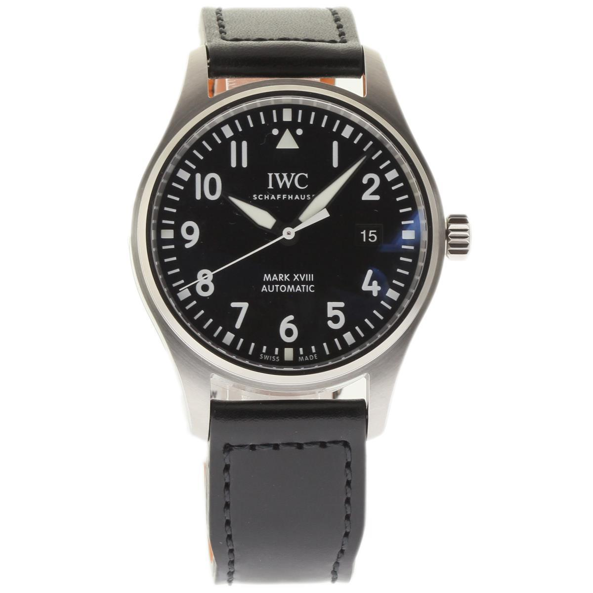 """Image of """"IWC Pilots Iw327001 Stainless Steel & Leather Automatic 40mm Mens"""""""