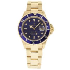 Rolex Submariner 16808 18K Yellow Gold 40mm Mens Watch