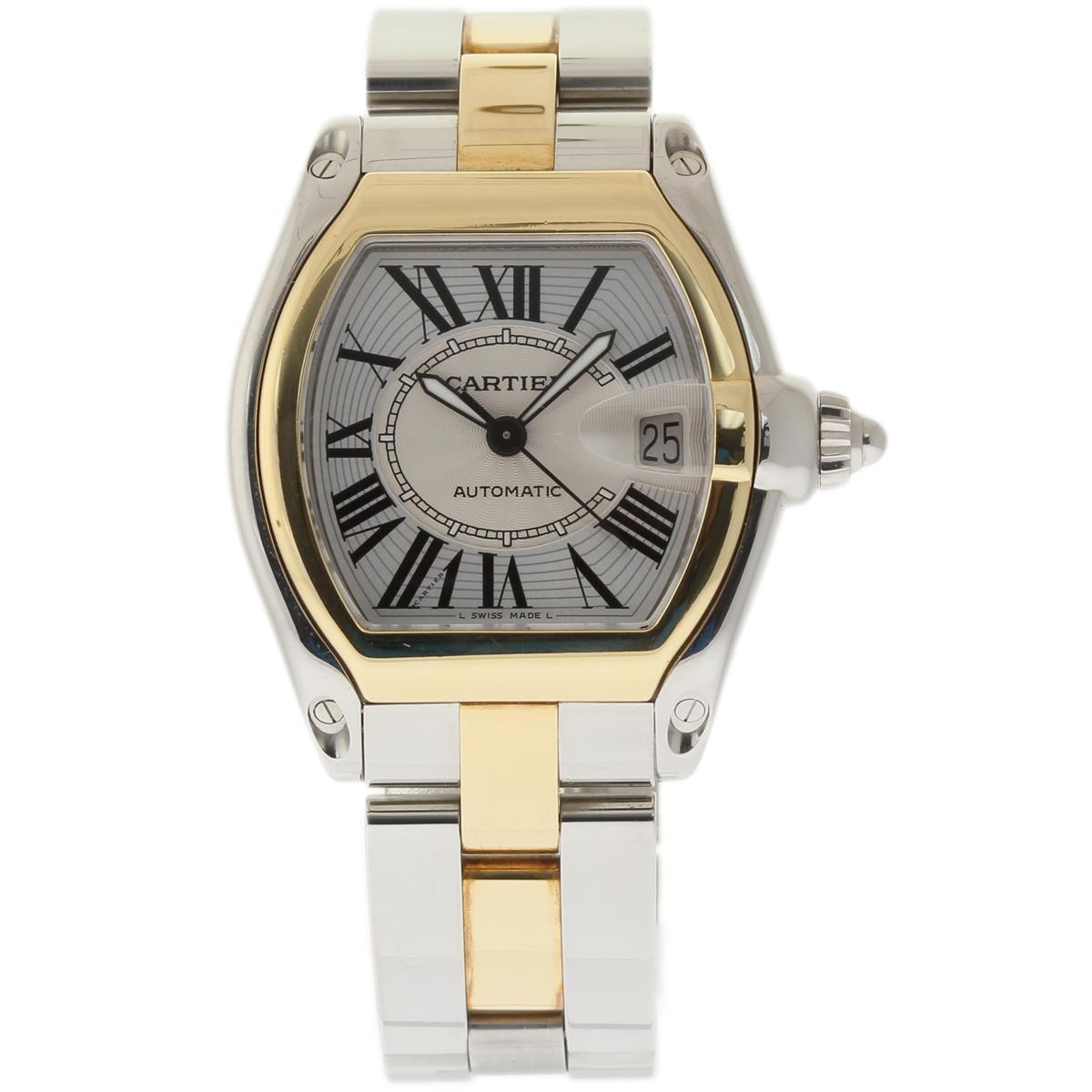 """""Cartier Roadster W62031Y4 Stainless Steel & 18K Yellow Gold Silver"""""" 1386240"