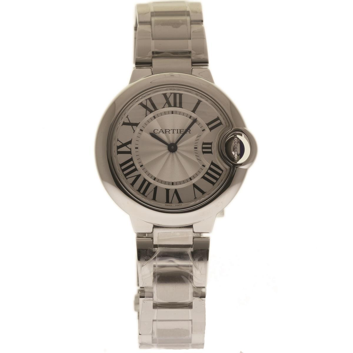 Cartier Ballon Bleu W6920084 Stainless Steel Silver Dial Quartz 33mm