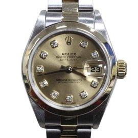 Rolex Datejust 79163 18K Yellow Gold & Stainless Steel Diamond Dial 26mm Womens Watch