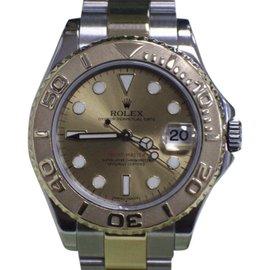 Rolex Yacht-Master 168623 18K Gold & Stainless Steel 35mm Unisex Watch