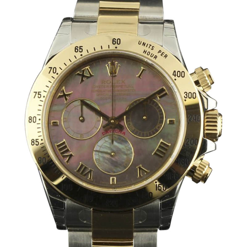 "Image of ""Rolex Daytona 116523 Stainless Steel & 18K Yellow Gold Mother of Pearl"""