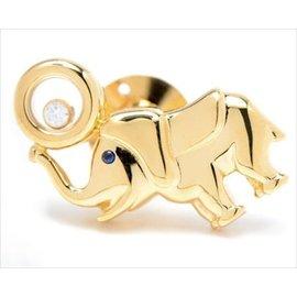 Chopard 750 Yellow Gold Happy Diamond Sapphire Elephant Brooch