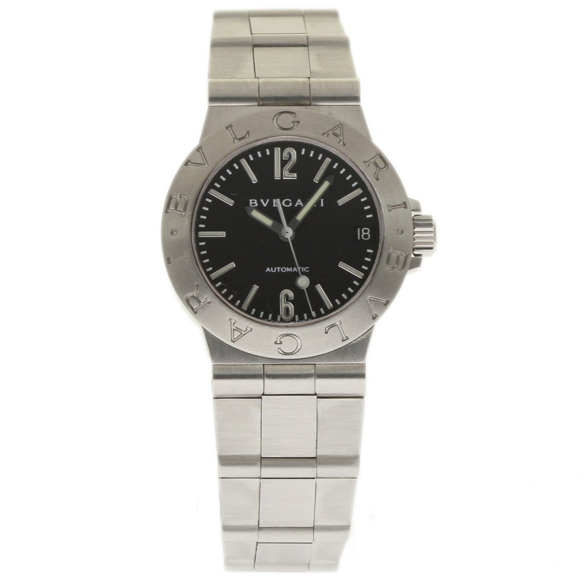 "Image of ""Bulgari Diagono Lcv29S Stainless Steel 29mm Womens Watch"""