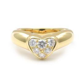 Tiffany & Co. 18K Yellow Gold Heart Diamond Ring Size 6