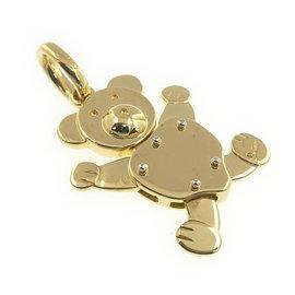 Pomellato 750 Yellow Gold Bear Top Charm Pendant