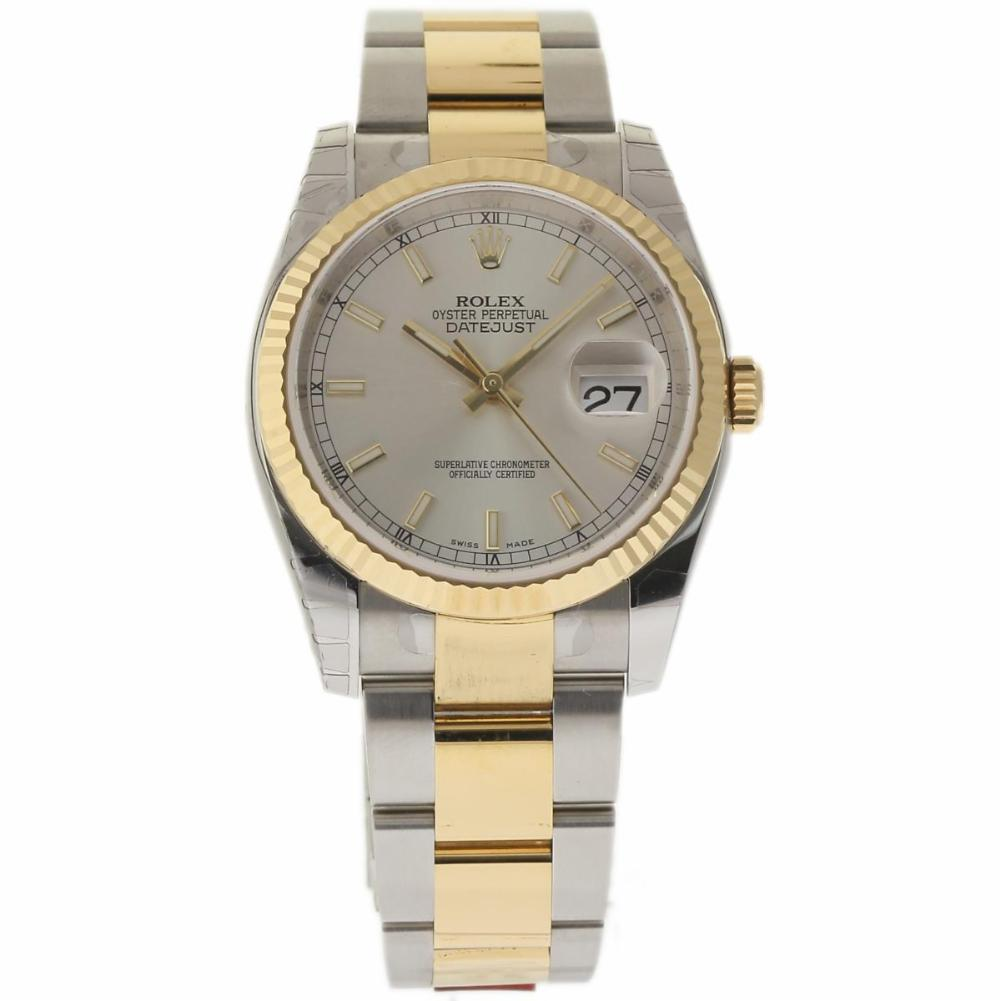 """Image of """"Rolex Datejust 116233 Stainless Steel/Yellow Gold Silver Dial"""""""