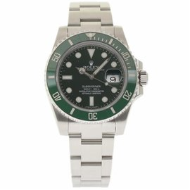 Rolex Submariner 116610 Stainless Steel Green Dial Automatic 40mm Mens Watch 2014