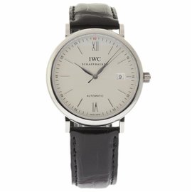 IWC Portofino IW356501 Stainless Steel & Black Leather Automatic 40mm Mens Watch