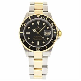 Rolex Submariner 16613 Stainless Steel & 18K Yellow Gold Black Dial Automatic 40mm Mens Watch