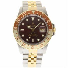 Rolex GMT Master 16753 Stainless Steel & 18K Yellow Gold Brown Automatic 40mm Mens Watch 1983