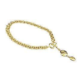 Chanel Gold-Tone Metal Motif Pendant Necklace