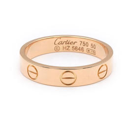 Cartier 18K Rose Gold Mini Love Ring Size 5.25