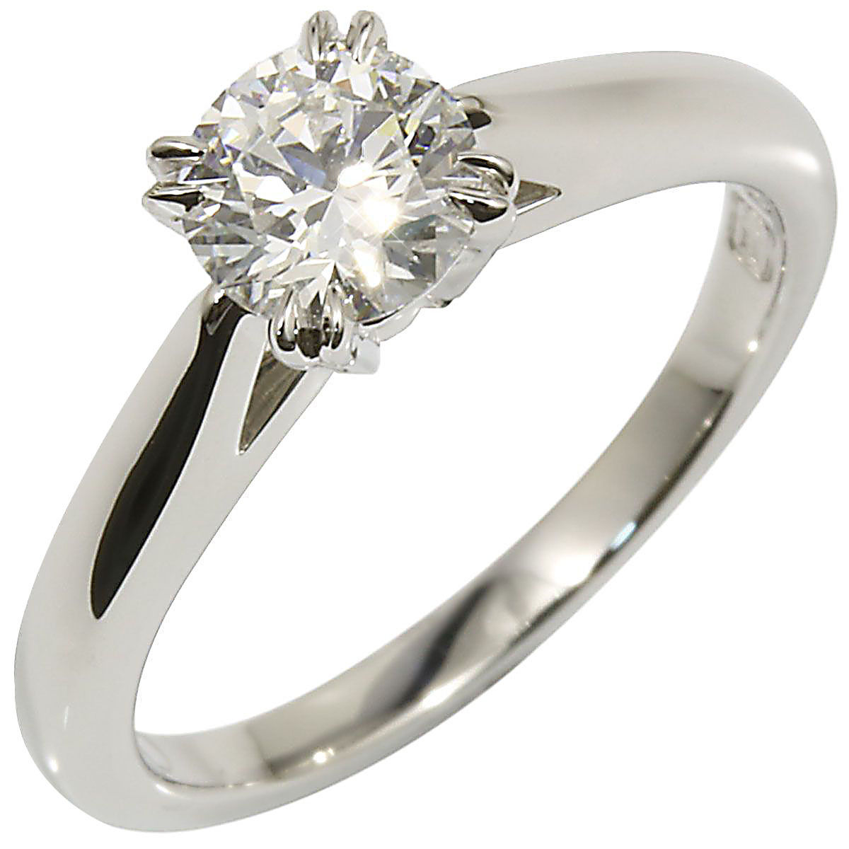 "Image of ""Harry Winston 950 Platinum & 0.50ct Diamond Ring Size 3.75"""