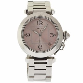 Cartier Pasha C W31075M7 Stainless Steel Pink Dial Automatic 35mm Womens Watch