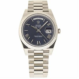 Rolex Day-Date 228239 18K White Gold Blue Dial Automatic 40mm Mens Watch