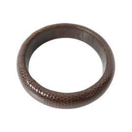 Bottega Veneta Lizard Leather Bangle Bracelet
