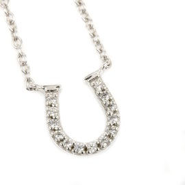 Tiffany & Co. 18K White Gold and Diamonds Necklace