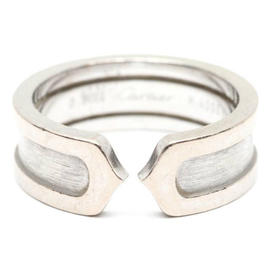 Cartier 18K White Gold C2 Ring Size 5.75