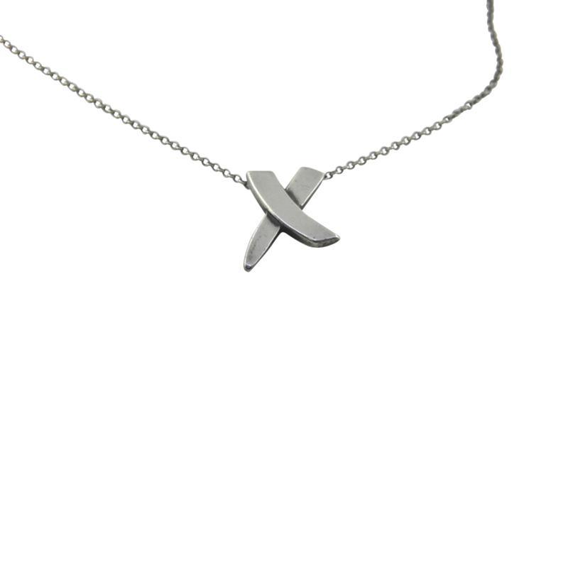 "Image of ""Tiffany & Co. Paloma Picasso 925 Sterling Silver X Necklace"""
