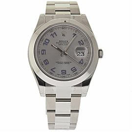 Rolex Datejust II 116300 Stainless Steel Silver Arabic Dial Automatic 41mm Mens Watch