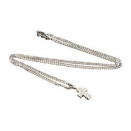 Cartier 18K White Gold Diamond Cross Pendant Necklace
