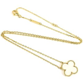 Van Cleef & Arpels 18K Yellow Gold Alhambra Pendant Necklace