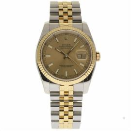 Rolex Datejust 116233 Stainless Steel & 18K Yellow Gold Champagne Dial Automatic 36mm Mens Watch 2004