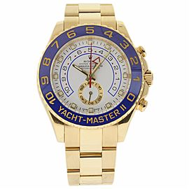 Rolex Yacht-Master II 116688 18K Yellow Gold White Dial Automatic 44mm Mens Watch 2008