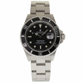Rolex Submariner 16610 Stainless Steel Black Dial Automatic 40mm Mens Watch 1989