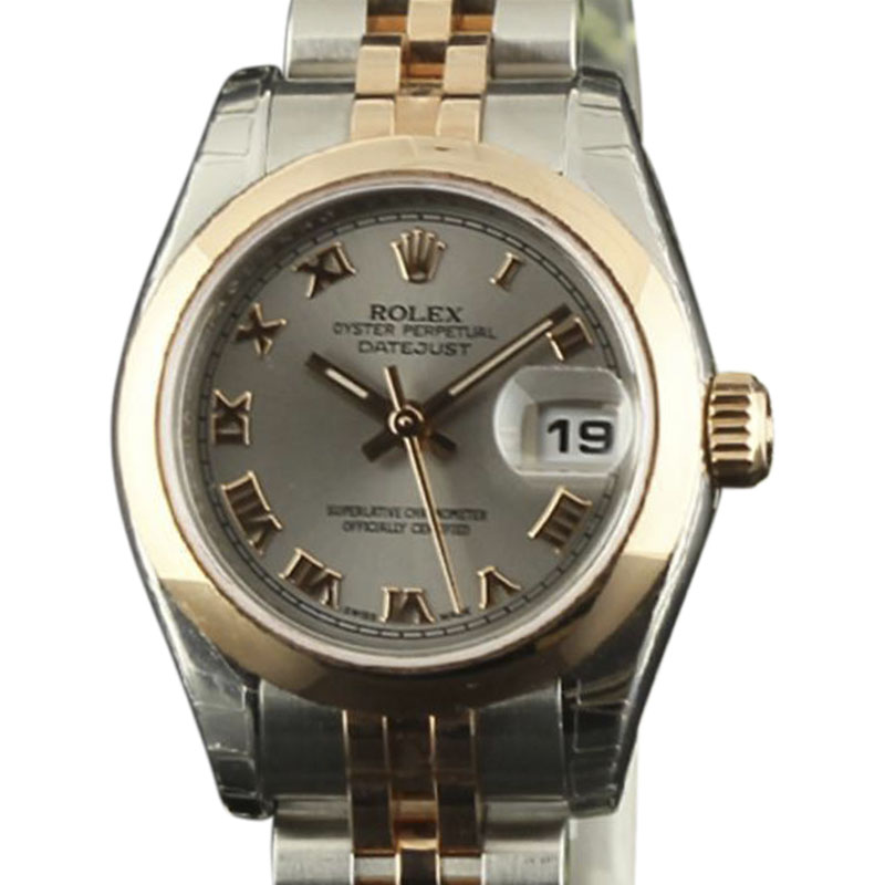 "Image of ""Rolex Datejust 179161 Stainless Steel & 18K Pink Gold Silver Dial"""