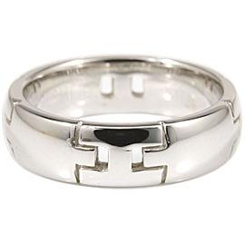 Hermes 18K White Gold Hercules Ring Size 5.75