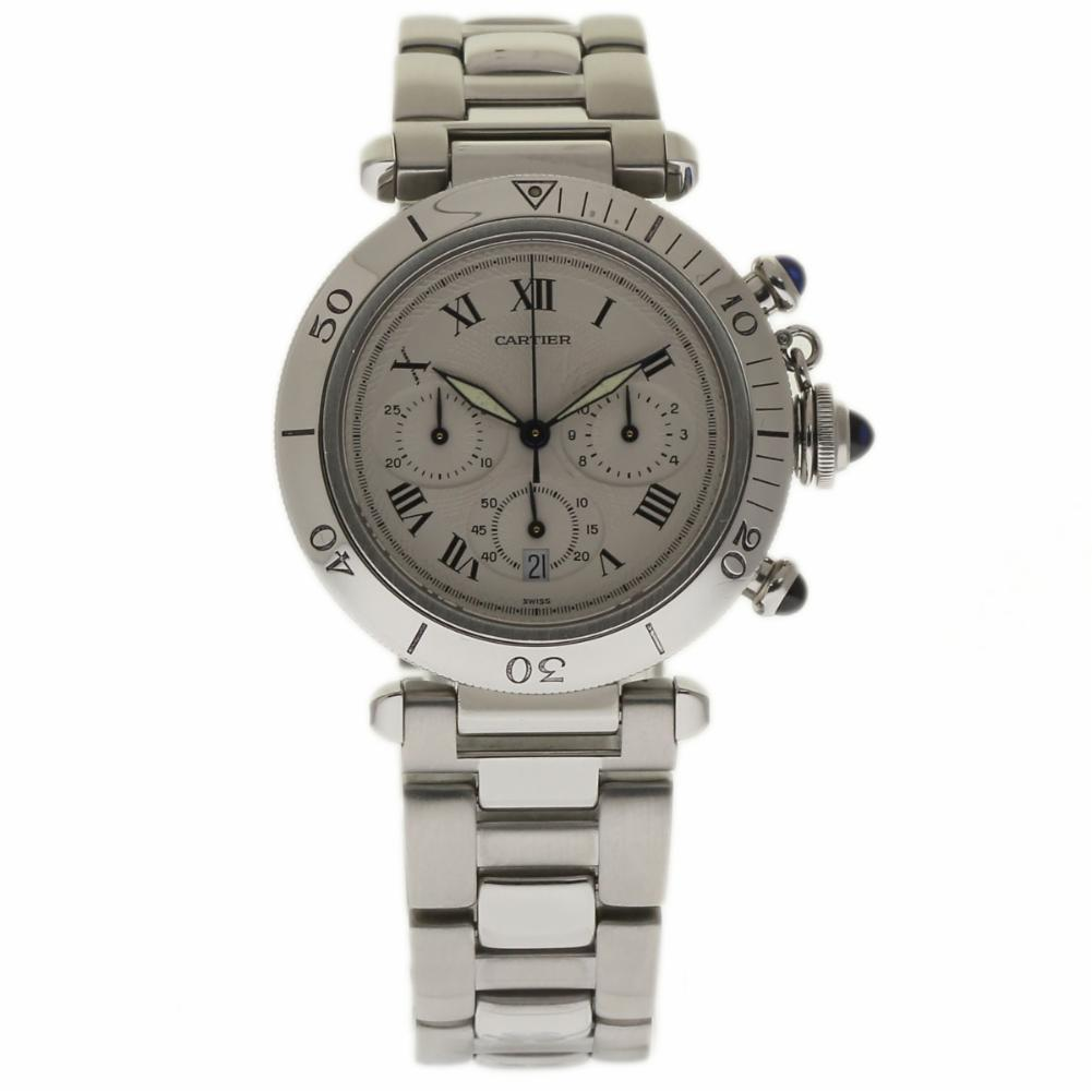 """Image of """"Cartier Pasha Diver W31018H3 Stainless Steel 38mm Womens Watch"""""""