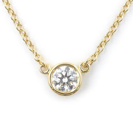 Tiffany & Co. 18k Yellow Gold 0.20ct. Diamond Elsa Peretti By the Yard Necklace