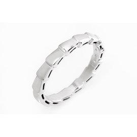 Bulgari 750 White Gold Serpenti Elegant Ring Size 9