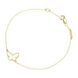 Van Cleef & Arpels Sweet Alhambra Yellow Gold with Mother of Pearl Bracelet