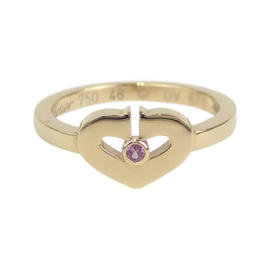 Cartier 18K Rose Gold C Heart Ring Size 4.5