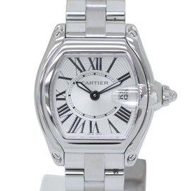 Cartier Roadster SM W62016V3 Stainless Steel Silver Dial Quartz 32mm Womens Watch