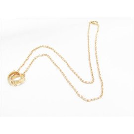 Cartier 750 Rose Gold Baby Love Pendant Necklace