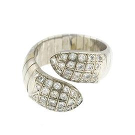 Chaumet 18K White Gold Flexible Wrap Around Diamond Snake Ring Size 6