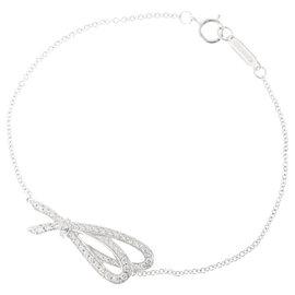 Tiffany & Co. 18K White Gold and 0.20ct Diamond Bracelet