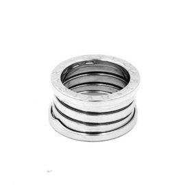 Bulgari B.Zero1 Four Band 18k White Gold Ring Size 5