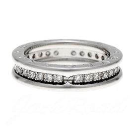 Bulgari 750 White Gold Diamond B.zero1 Ring Size 5