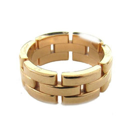 Cartier Maillon Panthere 18k Rose Gold Ring Size 7.5