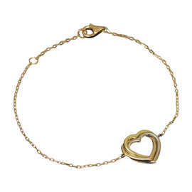 Cartier 750 White Rose & Yellow Gold Heart Trinity Bracelet